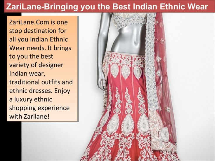 Ethnic & Designer Indian bridal wear by Zarilane Ctc via slideshare