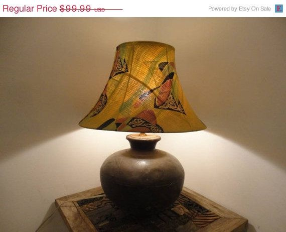 Recycled Handmade Table Lamp in Vintage Decor by MatureSourcing, $85.99