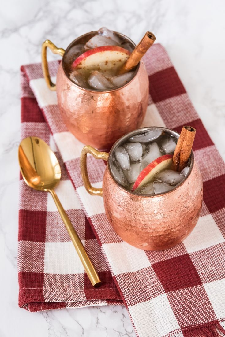 Apple Cider Moscow Mules   Cocktail recipes, party ideas, entertaining tips, recipes and more from @cydconverse