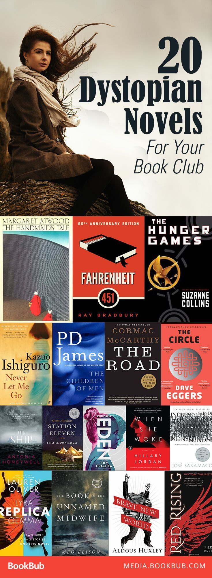If you love dystopian books, check out these great mix of novels for teens and adults. Including some of the best classic dystopian novels, and newer series!