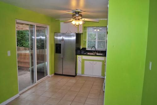 How would you decorate this lime green kitchen? (my CafeMom