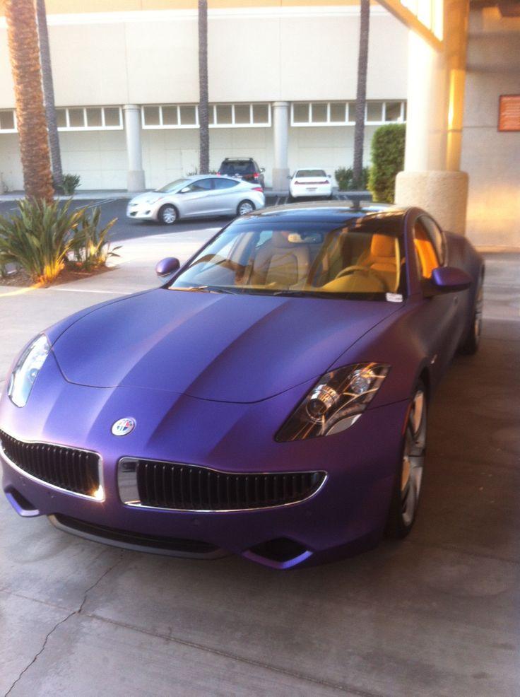 Fisker Karma custom wrapped in purple matte metallic~