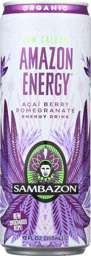 SAMBAZON: Organic Amazon Energy Drink Low-Calorie Acai Berry, 12 oz