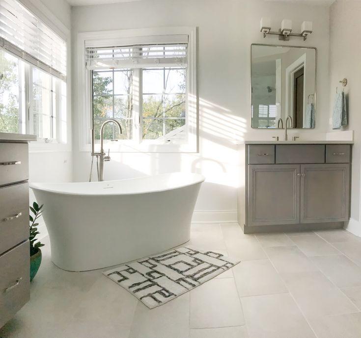 Modern Master Bathroom Ideas First Thyme Mom Modern Master Bathroom Bathroom Design Modern Bathtub