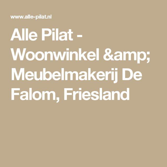 Alle Pilat - Woonwinkel & Meubelmakerij De Falom, Friesland