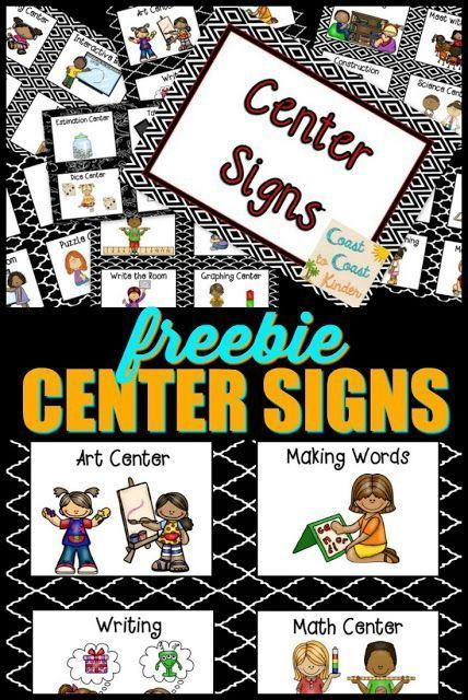 FREE***Signs and tips on how to manage centers and the rotation. My system for running 8 different centers daily in my classroom.