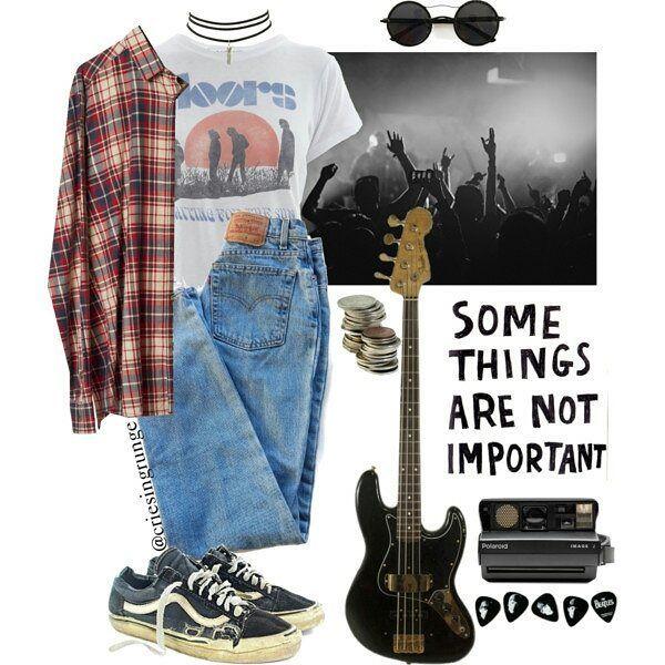 #grunge #rock #alternative #outfit -A