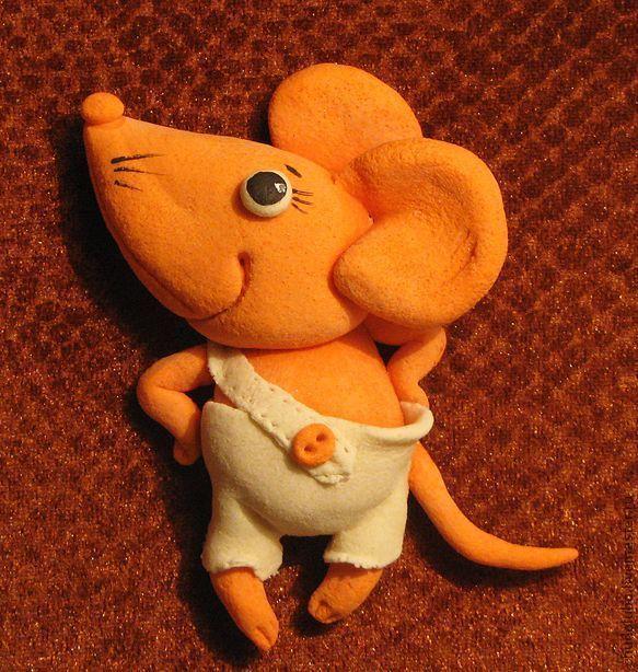 """Животные ручной работы. Ярмарка Мастеров - ручная работа панно"""" Задорный мышонок"""". Handmade."""