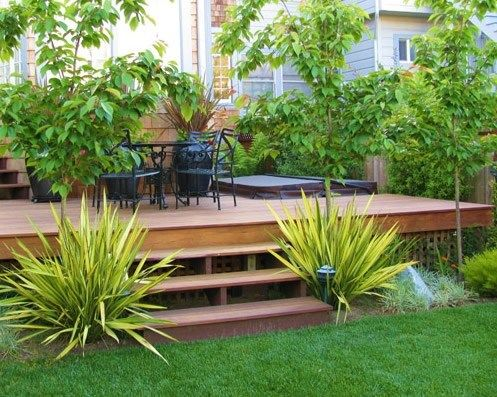 Deck Garden Ideas evening chill Platform Deck Deck Design Liquidamber Garden Design San Francisco