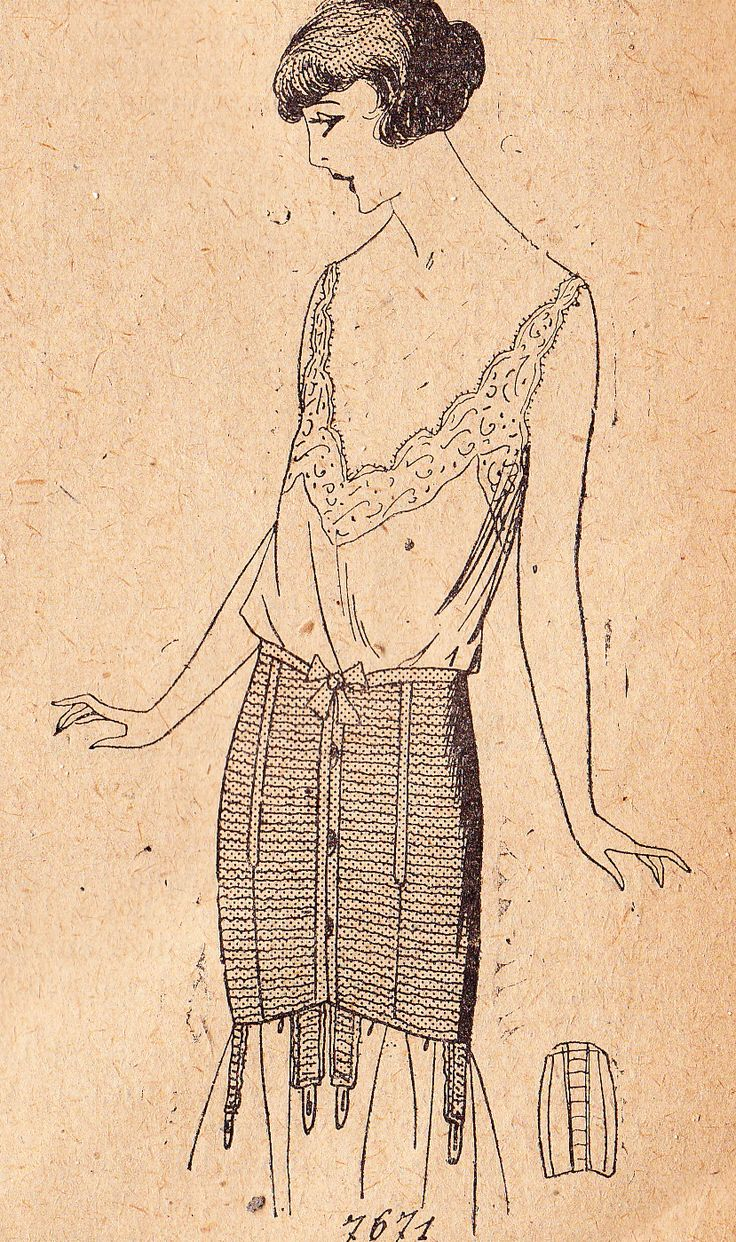 waist corset 1920s pattern