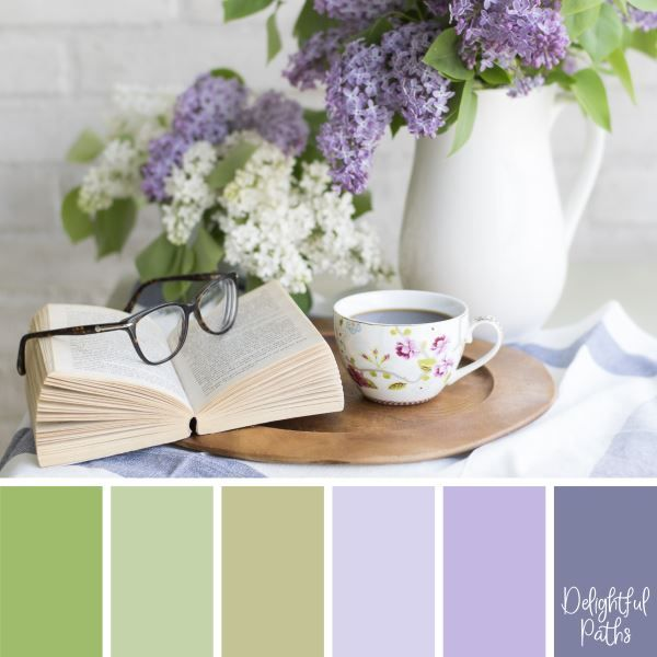 Shabby Chic Inspired Color Palettes - Delightful Paths