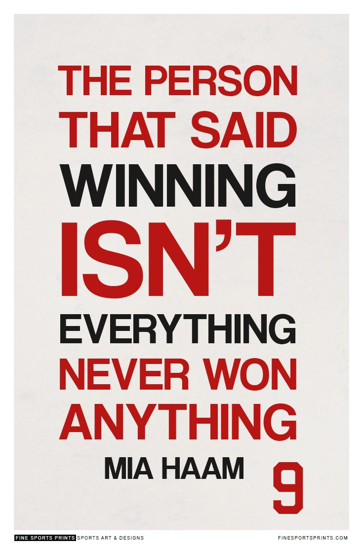 """Mia Hamm Quote on Print. See more at www.finesportsprints.com #teamusa #sportsquote #hamm"""
