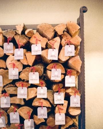 Winter Escort-Card Display/Outdoor Escort Card Displays - Martha Stewart Weddings Inspiration