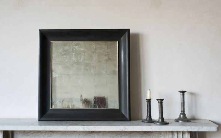 Verre Eglomise mirrors made for Freight by a local artist using white gold leaf