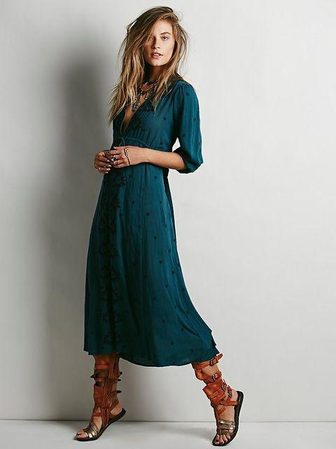 maxi dress lange mensen
