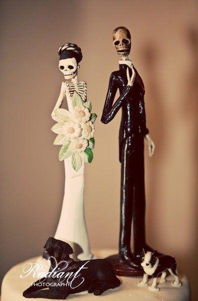 Til Do Us Part Dark Fairytale Wedding Cake Toppers