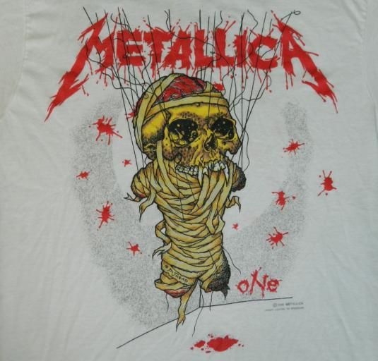 I had this shirt, which I bought at the Metallica concert in 1989. Best. Concert. Ever!