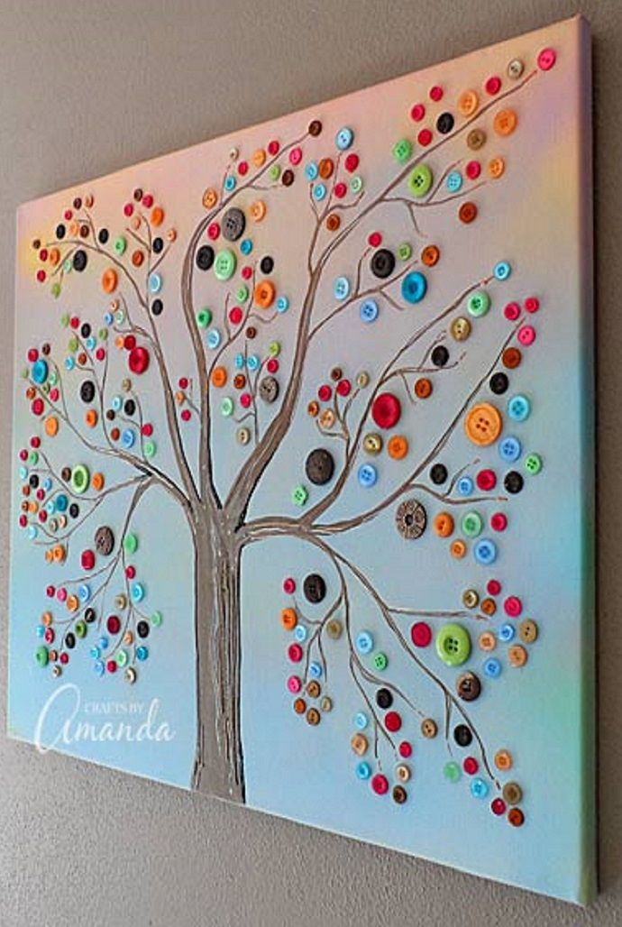 Make CANVAS BUTTON TREES | Tu B'Shevat Activity Ideas for ...