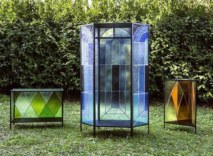 antonio aricò' cathedral glass cabinets 01