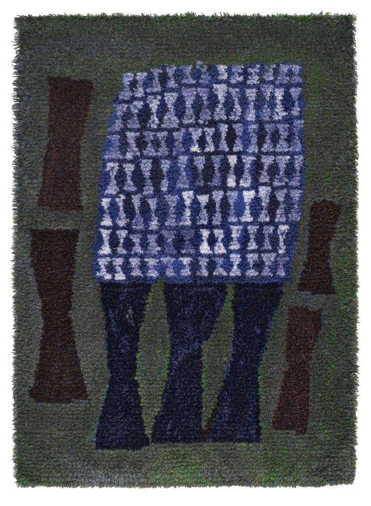 Eva Brummer; Wool Rya Rug, 1956.