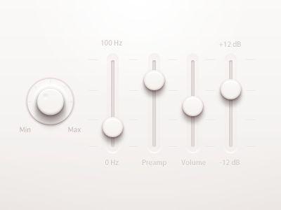music player ui 20 Brilliant Examples of Skeuomorphic UI Design