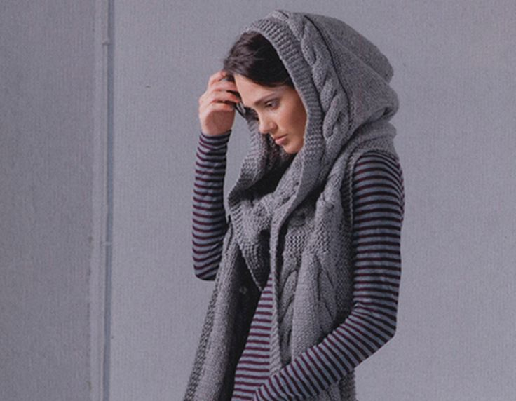 Knitting Pattern For Shrug With Hood : 79 best images about Stricken on Pinterest Chevron ...