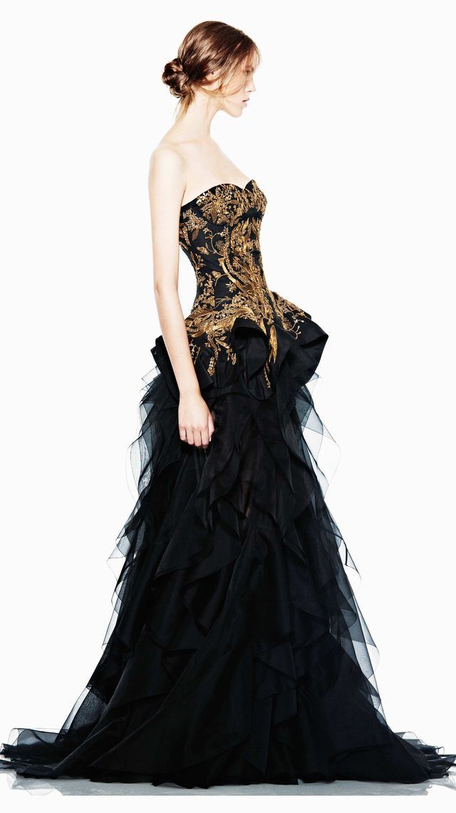 McQueen Pre-Spring/Summer 2012 CollectionWedding Dressses, Alexander Mcqueen, Blackgold, Fashion, Black Wedding, Alexandermcqueen, Gowns, Dresses, Black Gold