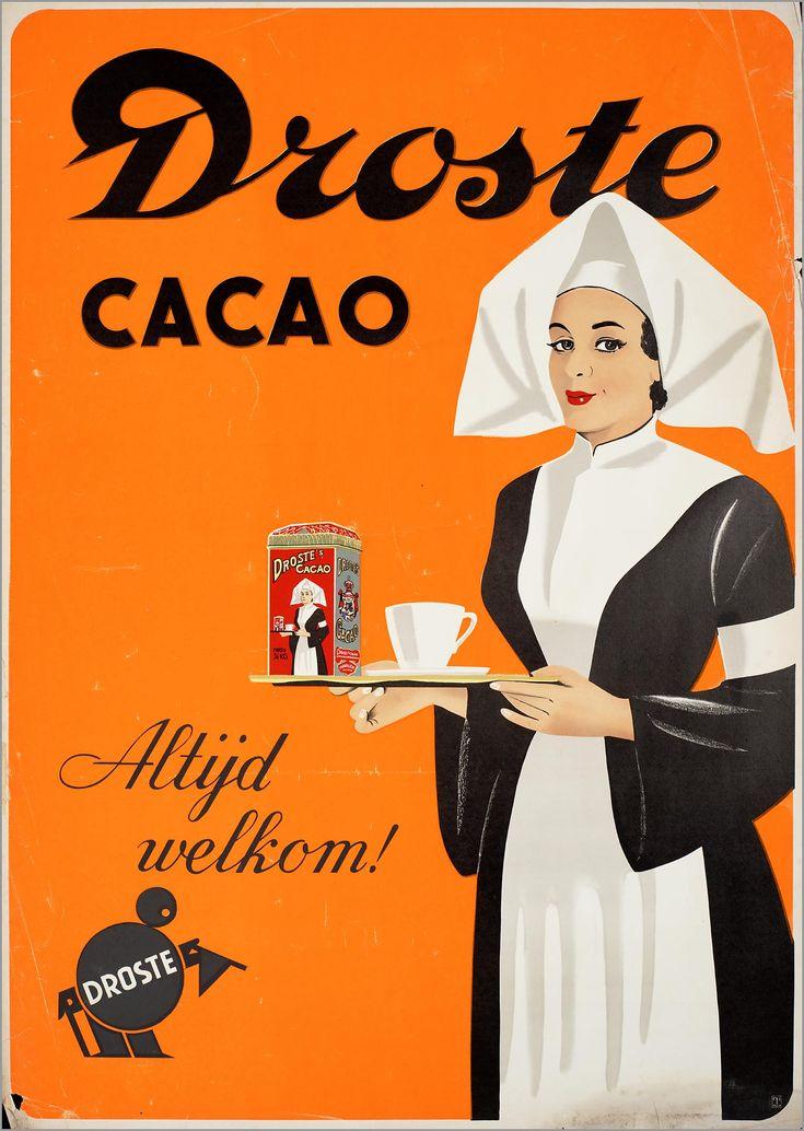 De bekende verpleegster van Droste heeft vele jaren de blikken en verpakkingen van Droste gesierd. De verpleegster staat voor de goede eigenschappen die chocola heeft, vroeger werd er zelfs geloofd dat chocola een heel sterk medicijn was!