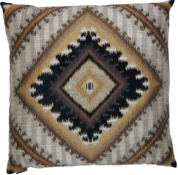 Safir - Brown Throw Pillow