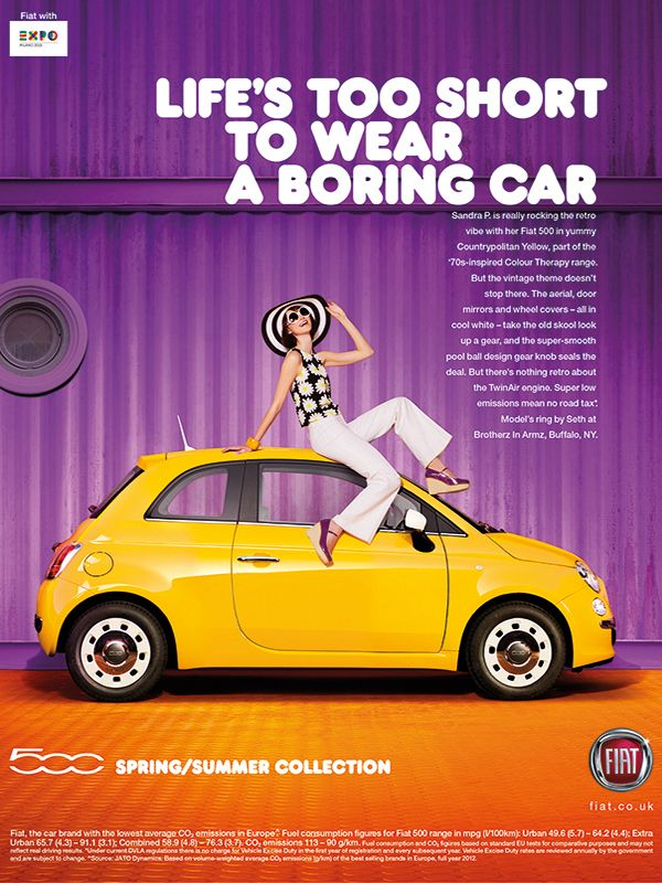 fiat 500 ss collection 2014 lifes too short to wear a boring car