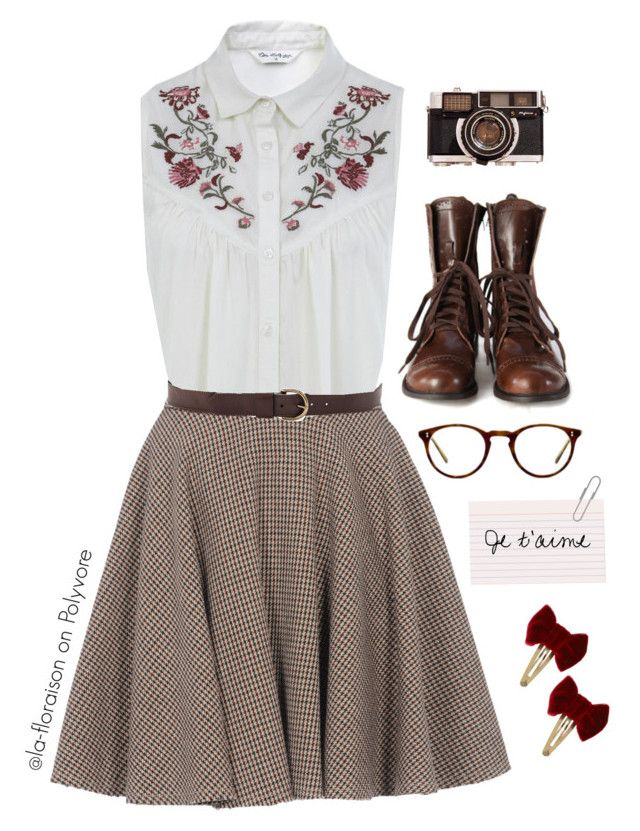 """""""Morning in the Library"""" by la-floraison on Polyvore featuring Miss Selfridge, McQ by Alexander McQueen, Linea Pelle, ASOS and Oliver Peoples"""