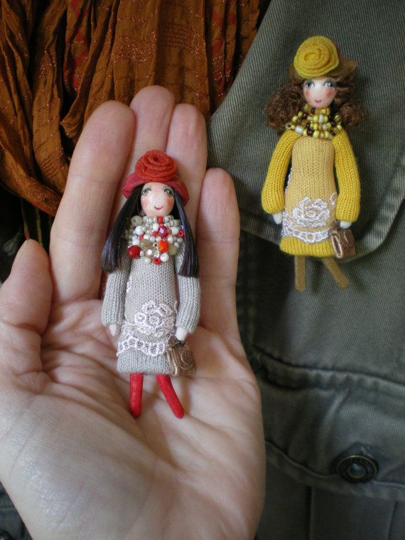 Here are wonderful doll brooches , all made by my mother. She often goes to Russian events such as Moscow Fair etc. All of these beautiful brooches