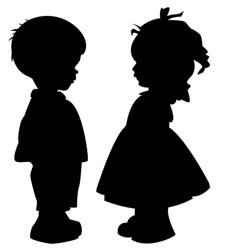 cute Girl  Silhouette | Details about Cute Boy and Girl Holding Hands Silhouette Vinyl Wall ...
