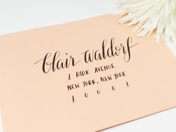 1000 Ideas About Calligraphy Envelope On Pinterest