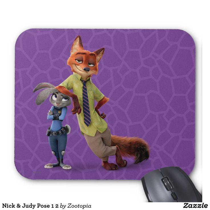 Nick & Judy Pose 1 2. Producto disponible en tienda Zazzle. Tecnología. Product available in Zazzle store. Technology. Regalos, Gifts. #Mousepads