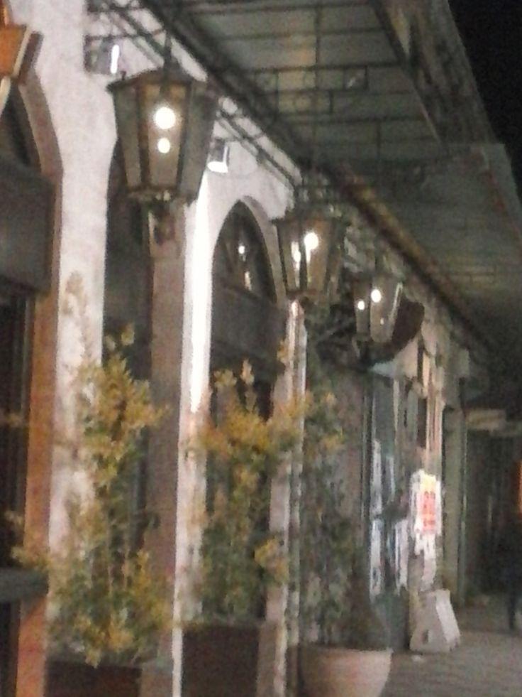 Hanging bronze lanterns in Ioannina greece