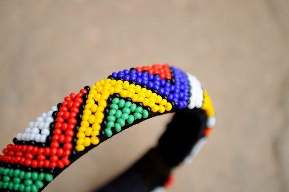 African cuff braceletBeaded bangleBeaded by akwaabaAfrica on Etsy