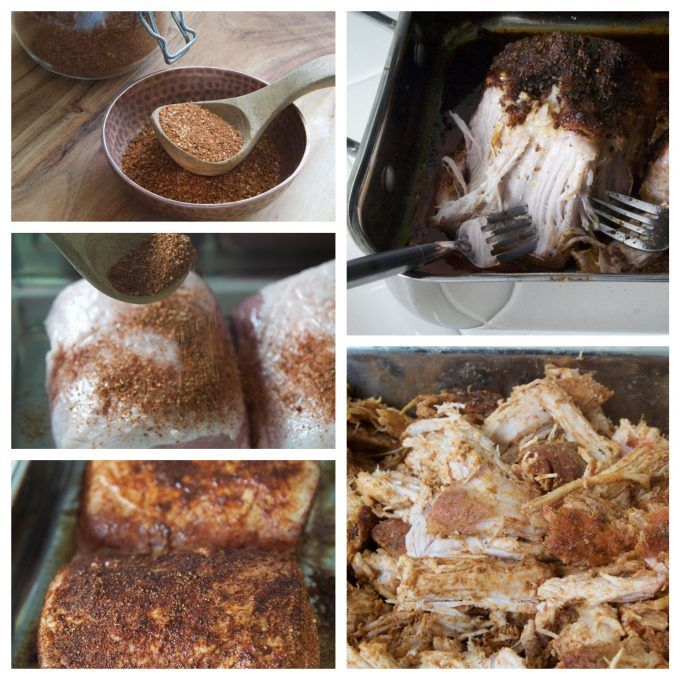 Easy Pulled Pork OVEN ROASTED is moist, slightly crispy, and super savory! Learn my Pork BBQ dry rub, with the low oven temperature slow roasting secrets.