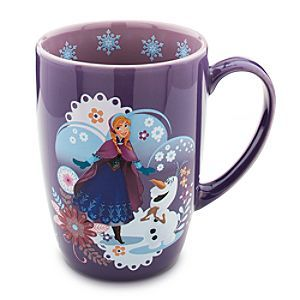 I looooove my beautiful Anna mug even more, but this one's so cute with Olaf and the aubergine color...:)