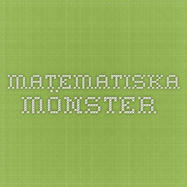 Matematiska mönster - räknerutor, talserier, mönster och figurer, sudoku och andra klurigheter.