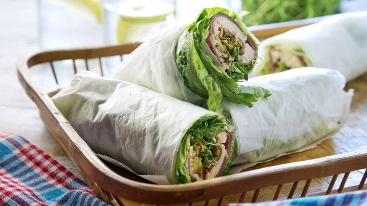Enkla wraps med rostbiff, cornichoner och en kräm av vita bönor. Snabblagad och nyttig mat som funkar bra till lunch och picknick.