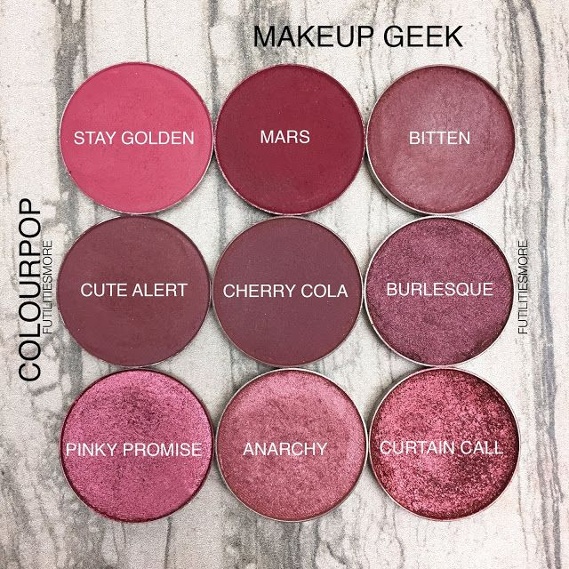 REDS AND BURGUNDIES/ Colourpop VS Makeup Geek