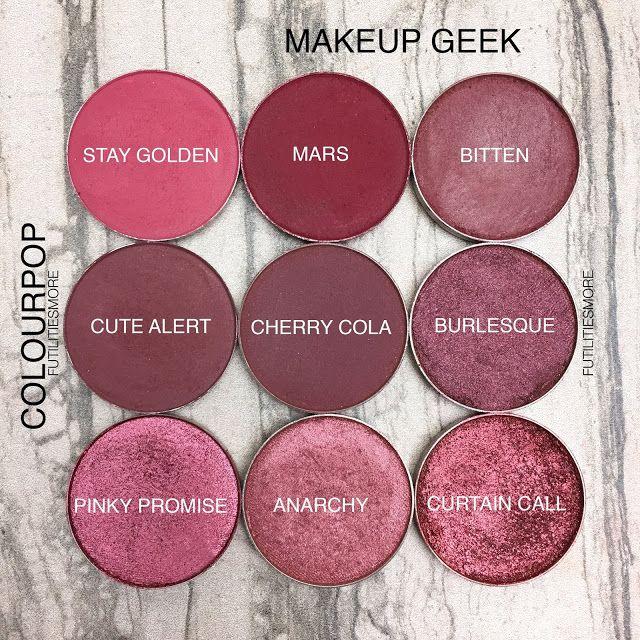 REDS AND BURGUNDIES/ Colourpop VS Makeup Geek