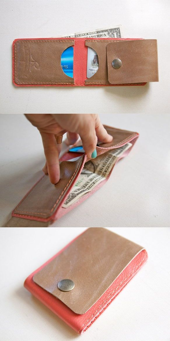 Thinking of making a mini wallet - SLIM BILL LEATHER WALLET