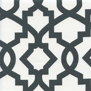 Sheffield Charcoal Contemporary Drapery Fabric by Premier Prints
