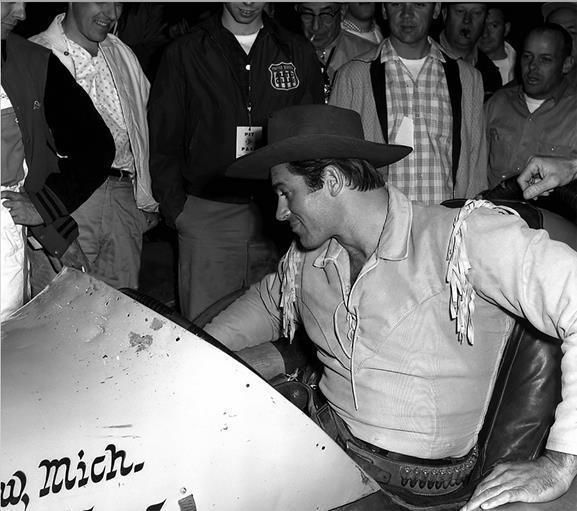 CLINT WALKER RARE IN A RACE CAR CHEYENNE COSTUME 8X10 PHOTO 65R