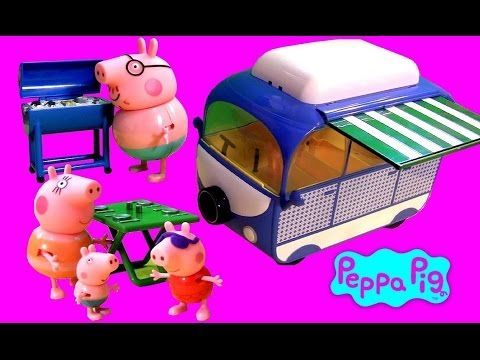 Play Doh Peppa Pig Holiday Campervan - Picnic with Mommy Daddy - Autocaravana Camper Van PlayDough - http://www.disneytoysreviews.com/peppa-pig-toys-dolls/play-doh-peppa-pig-holiday-campervan-picnic-with-mommy-daddy-autocaravana-camper-van-playdough/