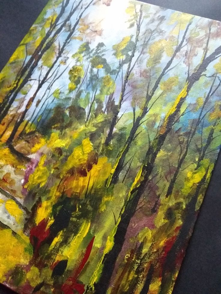 Acrylic Painting / Handmade / Gift / Wall Hanging / Home Decor / Landscape / Nature / Size: Height 15.7 Inches X Width 11.8 Inches