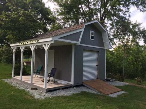 17 best ideas about shed with loft on pinterest cabin for Shed with porch and loft