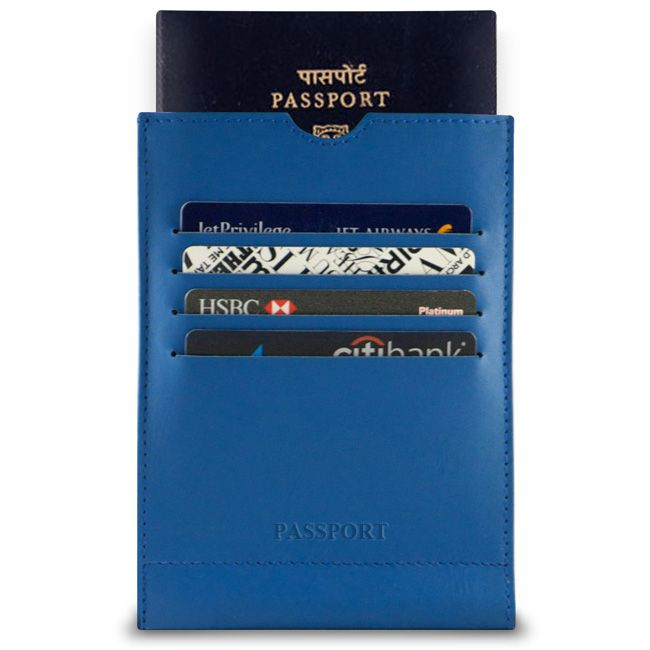 Royal Blue - Ace Leather Passport Wallet Sleeve